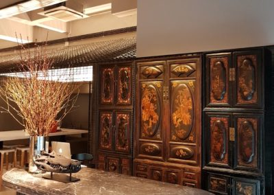 Antique lacquered cabinets from Chaozhou