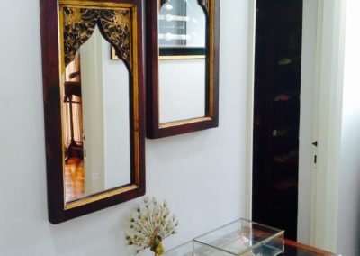 Mirrors converted from old Fujian door panels