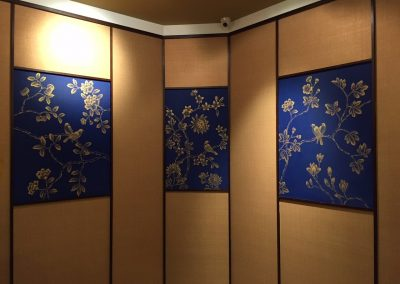 Paintings in the private dining rooms for Soup Restaurant at Jurong Point