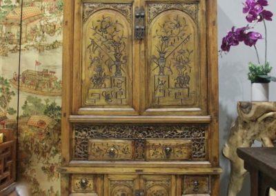 vintage furniture - carved cabinet