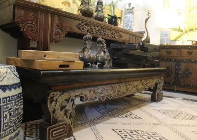 carved Teochew bench