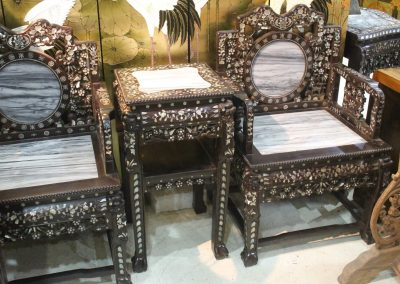 chinese marble chair