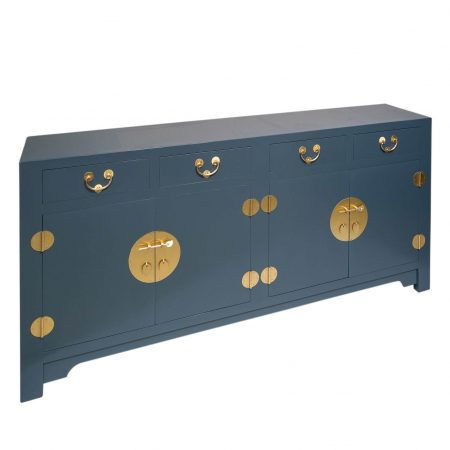 Chinese furniture deco blue sideboard