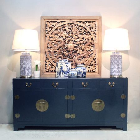 SB37-DECOB: Wooden sideboard in a cleanly finished dark blue, one of our latest colours