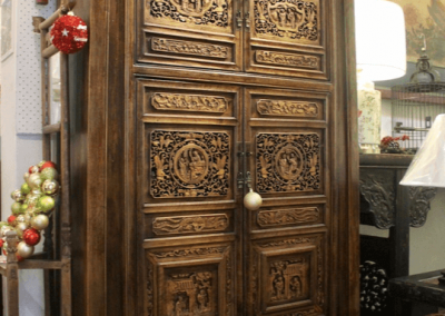 Chinese cabinet with carved doors