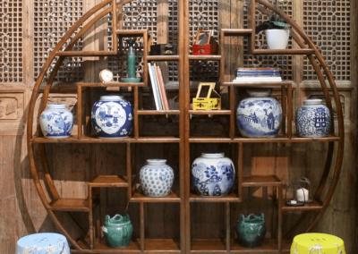 Chinese moon display shelf