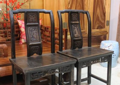 A pair of wooden ladies chair from Zhejiang