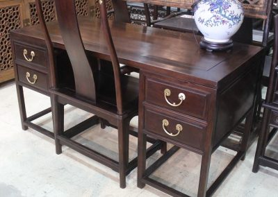 Jichimu Doctor's writing desk & chair, reproduction