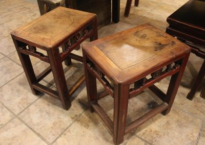 Original Jumu rectangular stools from Zhejiang, China