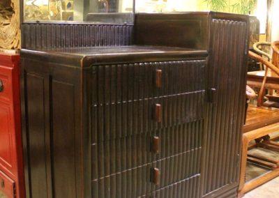 Elm wood Art Deco cabinet from Shanghai