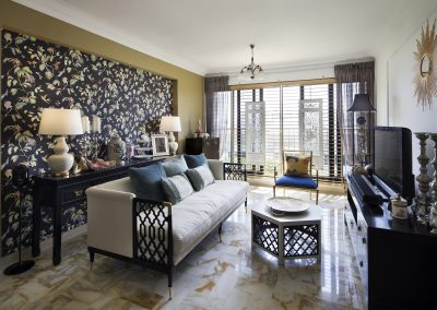 Chinoiserie style living room