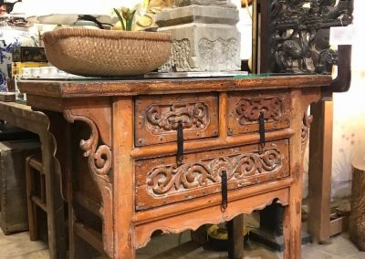 Antique carved coffer table from Shanxi province, China