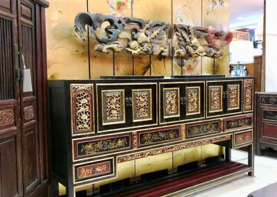 A long carved sideboard from Fujian China