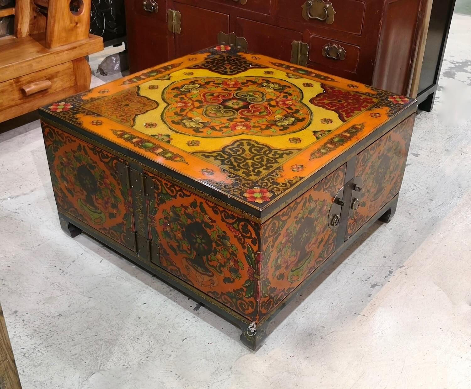 6025 Tall Tapered Carved Cabinet