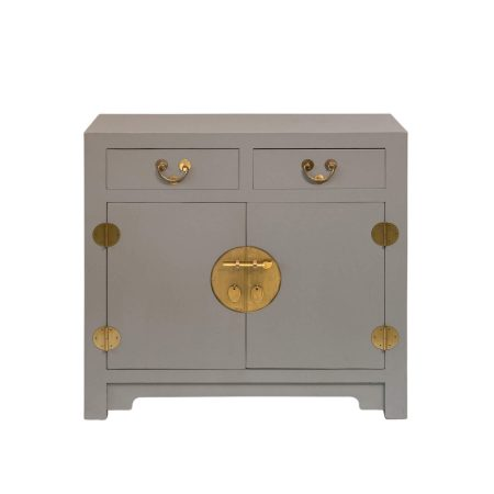 Chinese furniture modern Chinese cabinet in cool grey