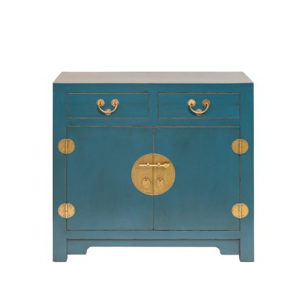 Chinese furniture modern Chinese cabinet in teal