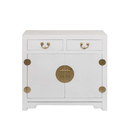 Chinese furniture modern Chinese cabinet in white