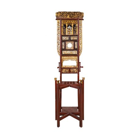 Chinese antique furniture Fujian carved washbasin stand