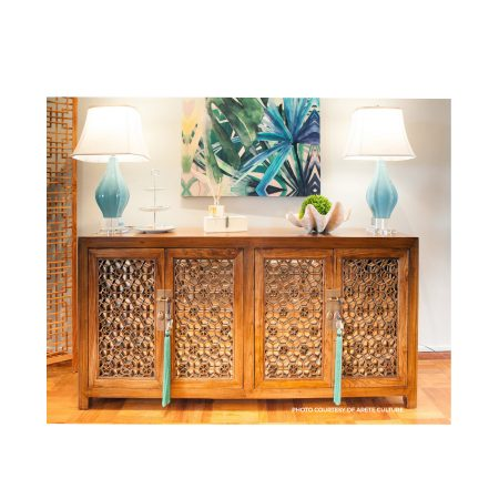 Chinese furniture lattice sideboard