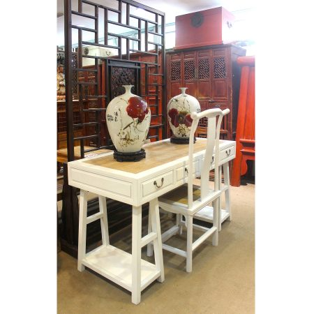 Chinese furniture writing desk and chair
