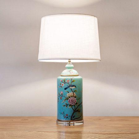 Ceramic oriental table lamp