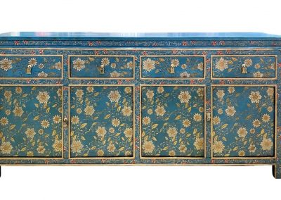 Blue & gold Tibetan-style sideboard