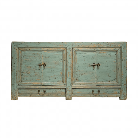 Chinese furniture light blue distressed sideboard