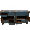 Chinese furniture Teal sideboard with iron motifs interior