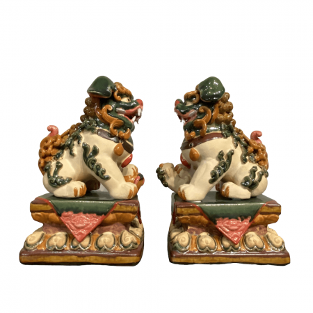 Chinese home decor Colour ceramic lions