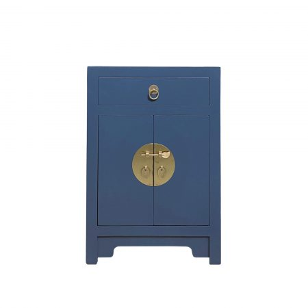 Midnight blue chinese bedside cabinet