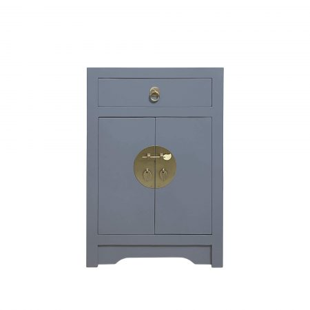 Storm grey chinese bedside cabinet