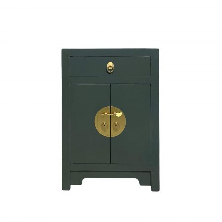 Forest Green chinese bedside cabinet