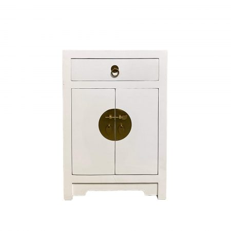 White chinese bedside cabinet