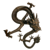 Brass dragon statue