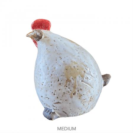 Ceramic chicken figurine