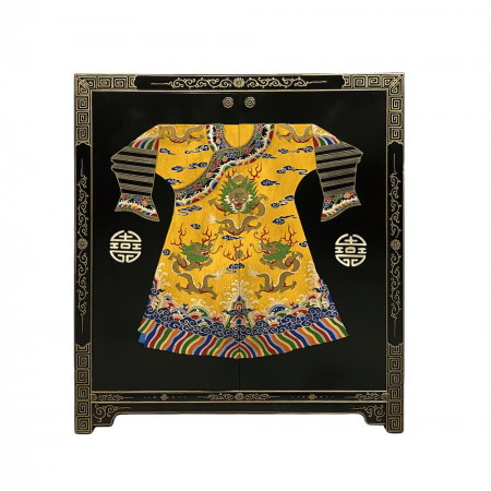 Chinese furniture Black cabinet with painted emperor's robe