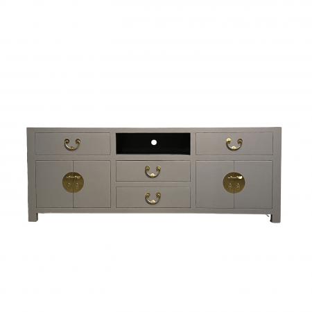 Chinese furniture cool grey TV console