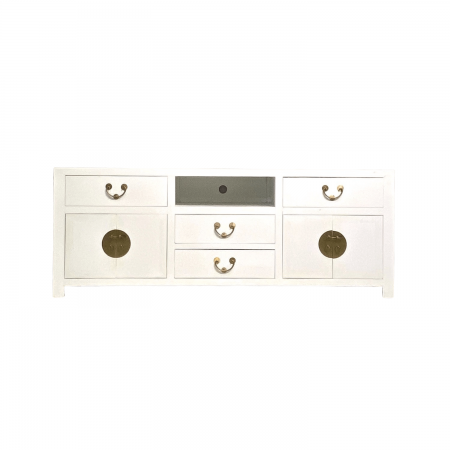 Chinese furniture white TV console