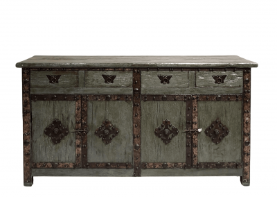 Chinese furniture weathered Elm sideboard