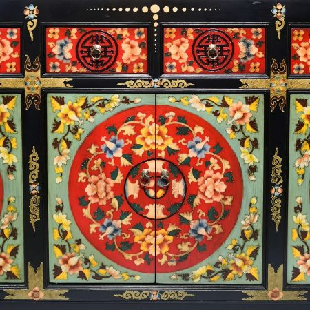 Tibetan furniture hand-painted long colourful sideboard