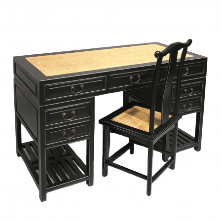Chinese furniture black writing desk
