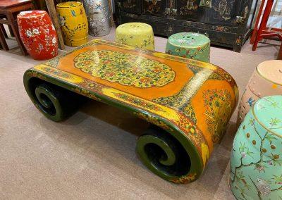 Chinese furniture Tibetan-style scroll table