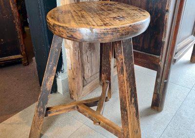 Chinese antique furniture round stool