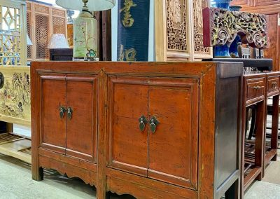 Chinese antique furniture red sideboard