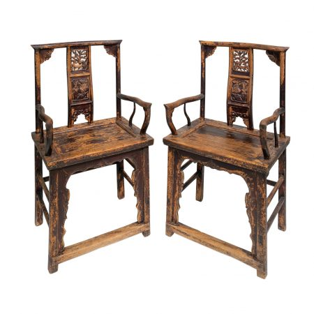 Chinese antique furniture highback chairs
