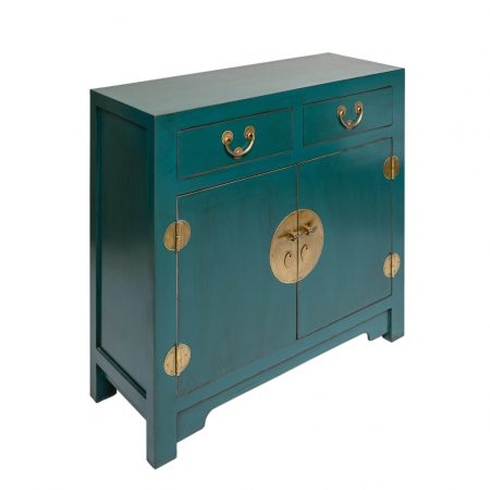 Chinese furniture sea green cabinet