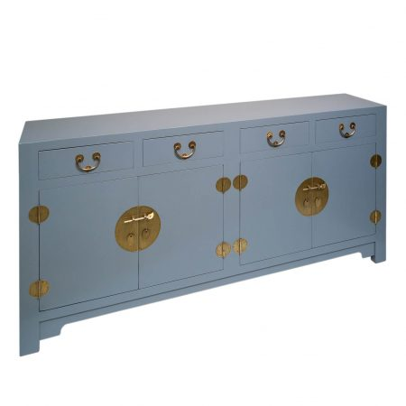 Modern Chinese sideboard in storm grey