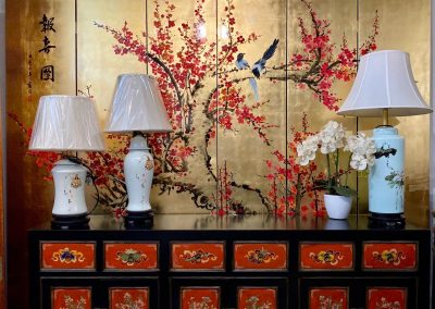 Chinese furniture painted screen