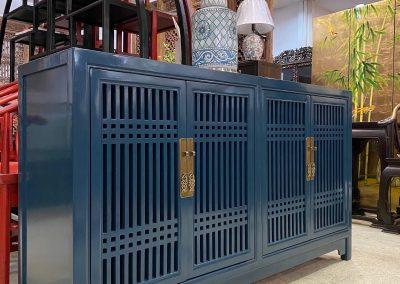 Chinese furniture dark blue sideboard
