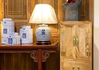 Chinese furniture and ceramic accessories